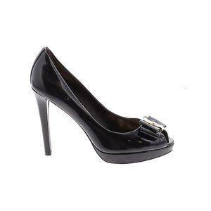 COACH Starla Patent Leather Black High Heels 7.5 B